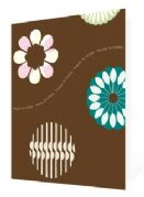 Birthday Card - Brown Contemporary